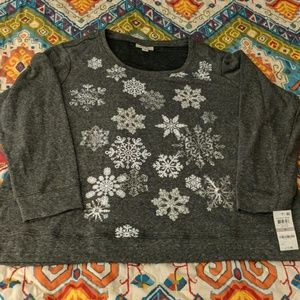 "❄Style & Co. Cozy Snowflake Sweater ""Holiday Muse"""